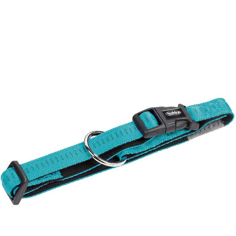 "78512-34 NOBBY Collar ""Soft Grip"" turquoise l: 40/55 cm; w: 25 mm - PetsOffice"
