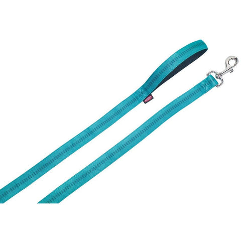 "78514-34 NOBBY Leash ""Soft Grip"" turquoise l: 120 cm; w: 15 mm - PetsOffice"