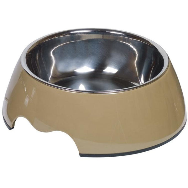 "73482-09 NOBBY Dog Melamine bowl ""NOBLY"" taupe M: 17,5 x 6,5 cm, 350 ml - PetsOffice"