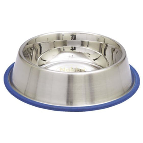 73542 NOBBY Dog Stainless steel bowl, anti slip 0,45 L 19,5 cm - PetsOffice
