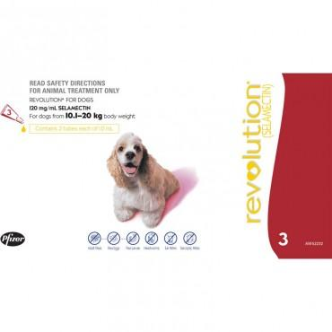 Revolution for dogs 10kg-20kg (1 Dose)