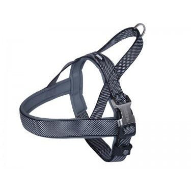 "80642-05 NOBBY Norwegian Harness ""Classic Preno Royal"" black L: 68-85 cm + 54 cm; W: 40/45 mm - PetsOffice"