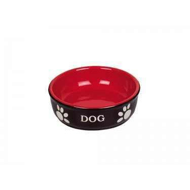 "73430 NOBBY Dog ceramic bowl ""DOG"" - PetsOffice"