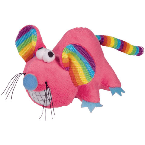 "67492 NOBBY Plush mouse ""RAINBOW"" - PetsOffice"