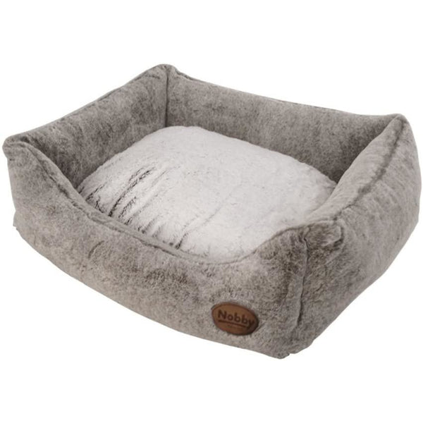 "60689 NOBBY Comfort bed square ""CUDDLY"" lightbrown l x w x h: 75 x 60 x 23 cm"