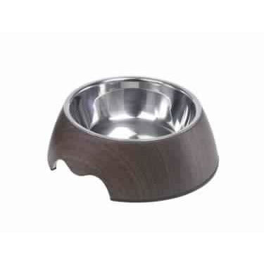 "73340 NOBBY Melamine bowl ""DARK WOOD"" - PetsOffice"