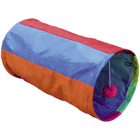 "67495 Cat tunnel ""RAINBOW"" - PetsOffice"