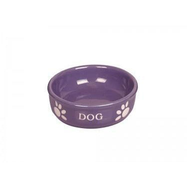 "73416 NOBBY Dog ceramic bowl ""DOG"" purple Ø15,5 X 6,5 cm - PetsOffice"