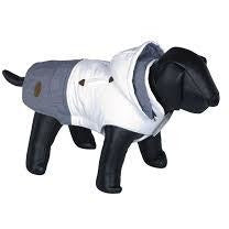"66740 NOBBY Dog coat ""DUO"" white-grey 23 cm - PetsOffice"