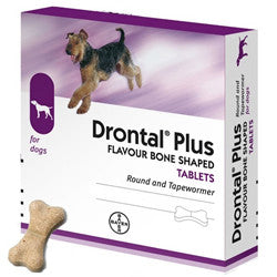 Drontal plus for Puppies and Dogs De-Worming Tablet - PetsOffice