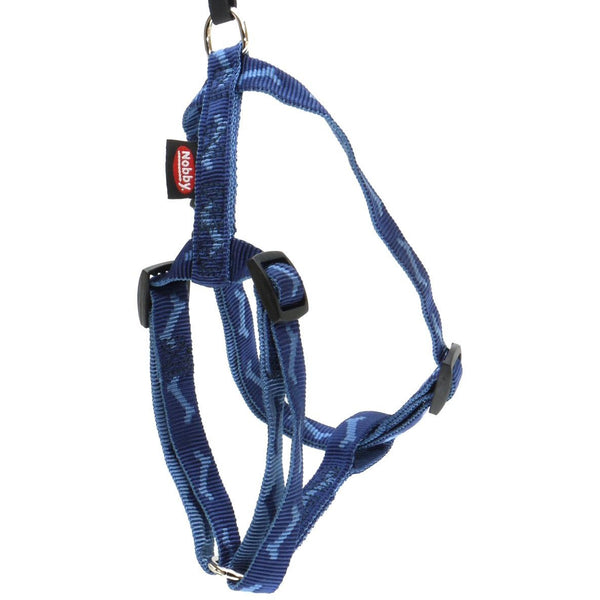 "74755-06 NOBBY Harness ""Soft Bone"" blue chest: 70-90 cm; w: 25 mm - PetsOffice"