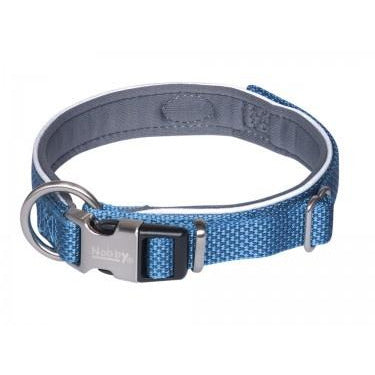 "80631-06 NOBBY Collar ""Classic Preno Royal"" blue L: 45-55 cm; W: 25/35 mm - PetsOffice"