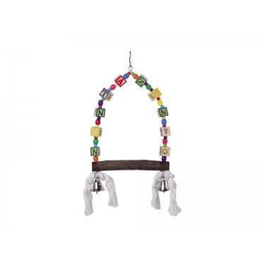 31682 NOBBY Cage Toy, Swing with colored dices 35 x 18 cm - PetsOffice