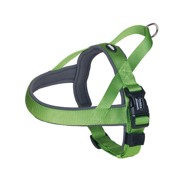 "80531-39 NOBBY NORWEGIAN Harness ""Classic Preno"" neon green/grey L: 38-50 cm + 36 cm; W: 20/25 mm - PetsOffice"