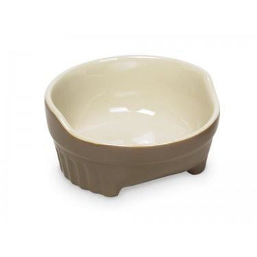 "73440 NOBBY Dog ceramic bowl ""STYLE"" grey / beige Ø14,5 X 6,5 cm - PetsOffice"