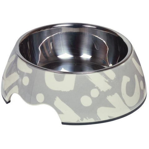 "73687 NOBBY Dog Melamine bowl ""Letter"" M: 17,5 x 6,5 cm, 350 ml - PetsOffice"