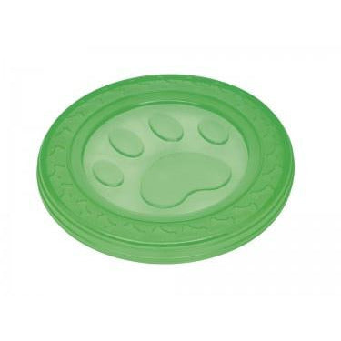 "60373 NOBBY TPR Fly-Disc ""Paw"" green 22 cm - PetsOffice"