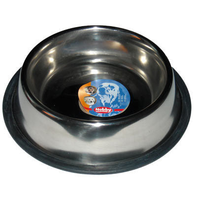 72818 NOBBY Stainless steel bowl, anti slip - PetsOffice