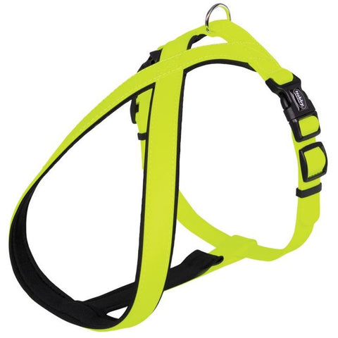 "80567-24 NOBBY Comfort Harness ""Cover"" neon yellow waist: 30-40 cm; w: 20/30 mm - PetsOffice"