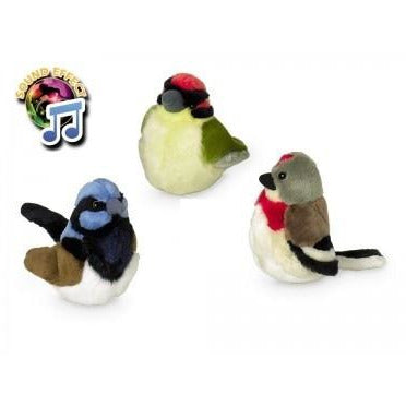 67401 Plush bird with soundchip strip 12 pcs; 17 cm - PetsOffice