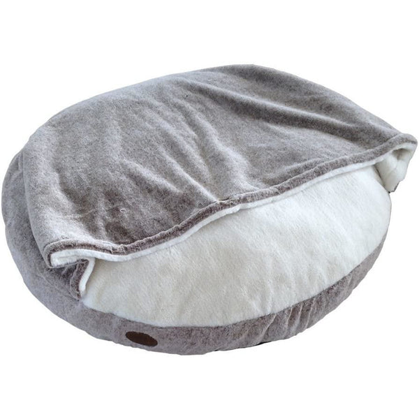 "60667 NOBBY Comfort Cushion round ""CUDDLY"" with Blanky lightbrown Ø 92 cm"