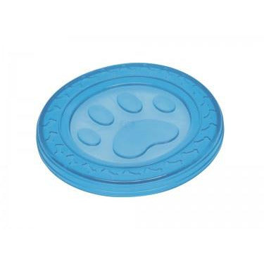 "60371 NOBBY TPR Fly-Disc ""Paw"" blue 22 cm - PetsOffice"