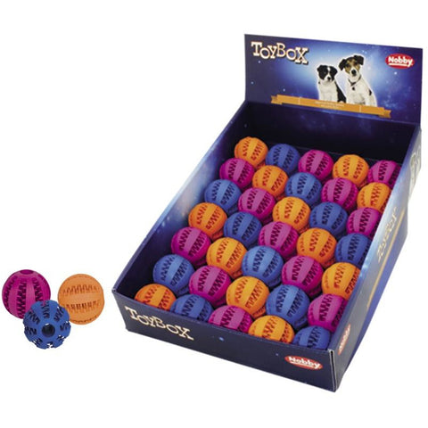 60455 NOBBY Rubber dental ball assorted colours 5 cm - PetsOffice
