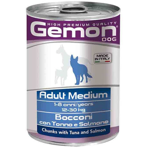 Gemon Dog Chunks Tuna&Salmon 415g - PetsOffice