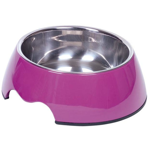 "73482-38 NOBBY Dog Melamine bowl ""NOBLY"" purple M: 17,5 x 6,,5 cm, 350 ml - PetsOffice"