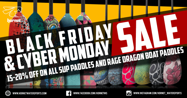 Black Friday SUP Paddle and Dragon Boat Paddle Sale 2018