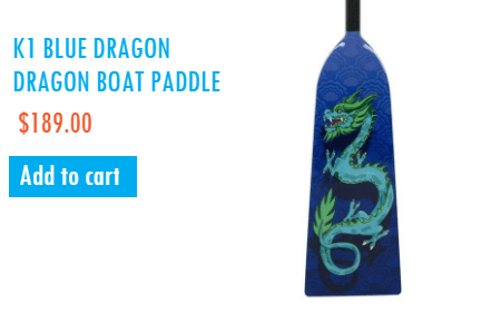 K1 Dragon Boat Paddle Blue