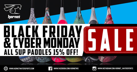 Black Friday and Cyber Monday sale 15% off on all SUP Paddles