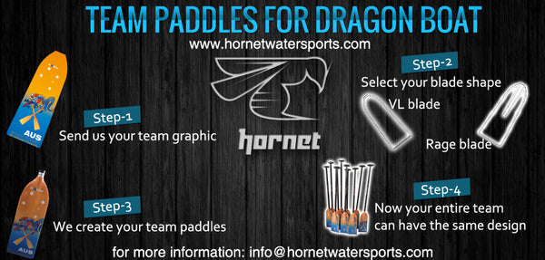 custom dragon boat paddles