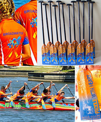 Custom Dragon Boat Paddles Broadwater Dragons