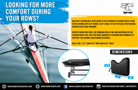Sculling Rowing Cushion by Hornet Watersports