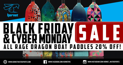 Rage Dragon Boat Paddles 20% OFF on Black Friday