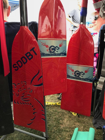 San Diego Dragon Boat Team Custom Paddles