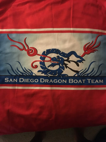 San Diego Dragon Boat Team logo on uniform
