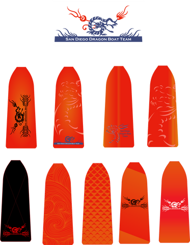 San Diego Dragon Boat Team draft paddles