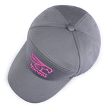 Hornet 5 Panel Cap in Grey with Pink Logo - Hornet Watersports