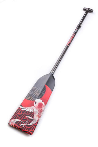 Koi Fish Hornet STING G14 Dragon Boat Paddle IDBF Approved Available in Fixed or Adjustable Lengths with Design on Both Sides