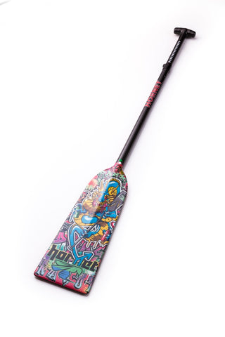 Graffiti Dragon Hornet STING G8 Dragon Boat Paddle IDBF Approved in Fixed or Adjustable Length with Design on Both Sides