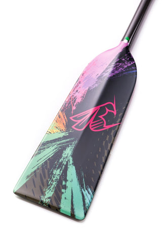 Splash Color Dragon Hornet STING G7 Dragon Boat Paddle IDBF Approved  in Fixed or Adjustable Lengths with Design on Both Sides