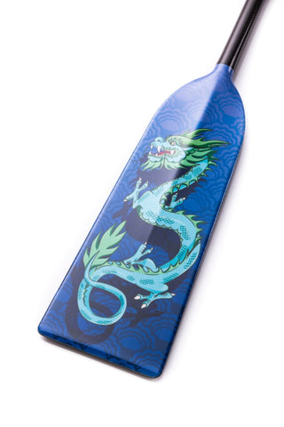 Blue Dragon Hornet STING G3 Dragon Boat Paddle IDBF Approved  in Fixed or Adjustable Length with Design on Both Sides