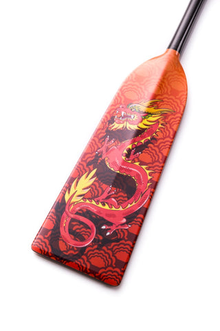 Orange Dragon Hornet STING G5 Dragon Boat Paddle IDBF  in Fixed or Adjustable Length with Design on Both Sides
