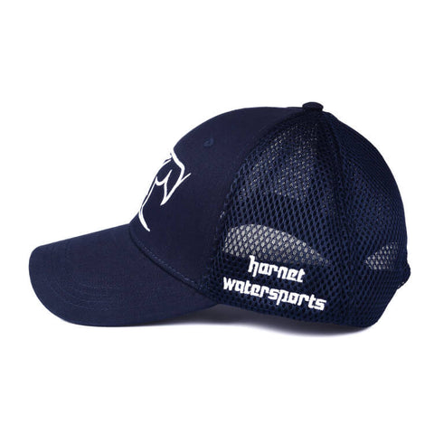 Hornet Mesh Back Cap in Navy Blue with White Logo