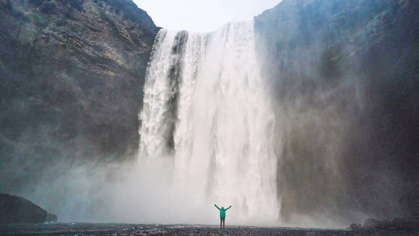 Waterfall Iceland, Rain Jacket, Ember and Earth