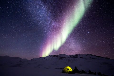 Gorgeous Camping Scenery, northern lights. Rain protection and windproof.