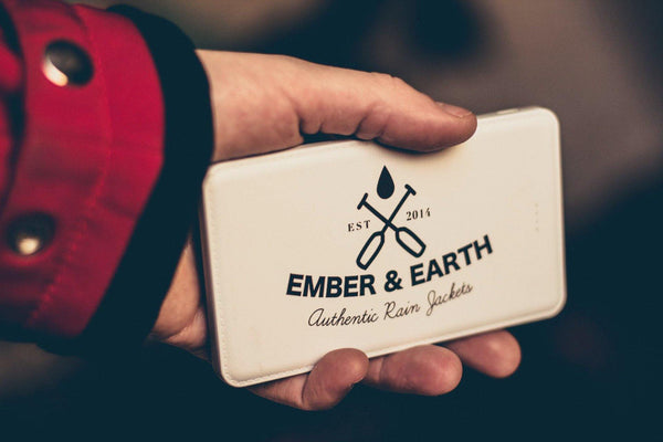 Power Bank 5,000mAh - Ember&Earth Rainwear, Slim Fit Raincoat