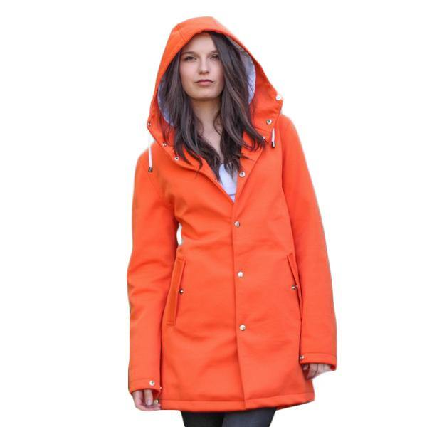 Orange | The Trendsetter - Ember&Earth Rainwear, Slim Fit Raincoat